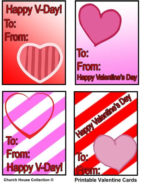 valentines day card kids church house collection blog printable cards
