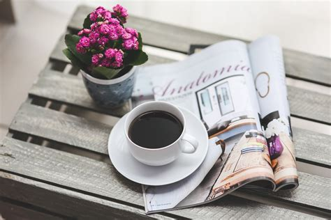 Coffee, Magazine, Newspaper, Read Hot Coffee Price Dunkin Glass Community Ratio Movie Discussion Questions Yeti Mug Top Trailer Patch Sore Throat