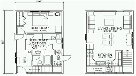 2 floor plans with garage small cottage home plan with garage small 2 cottage