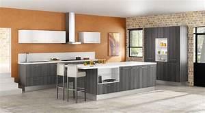 modele de cuisine amenagee moderne cuisine en bois moderne With modeles de cuisines equipees
