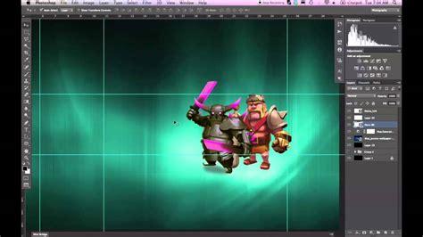 design tutorial  clash  clans banner photoshop cs