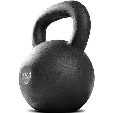 kettlebell titan lb weight fitness swing iron workout weights cast solid natural