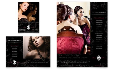 formal fashions jewelry boutique flyer ad template