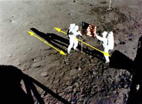 moon landing shadows