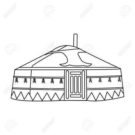yurt drawing  getdrawings