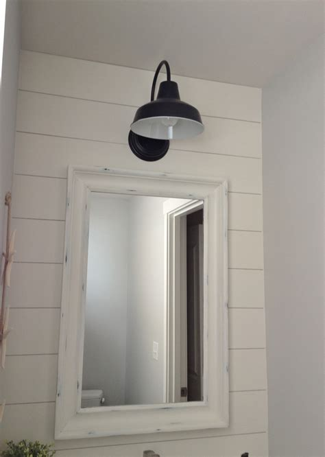 Bath Lighting Sconces by Barn Wall Sconce Lends Farmhouse Look To Powder Room