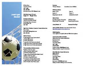 soccer resume for college gallery