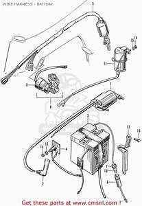 Honda Ss50z England Wire Harness - Battery