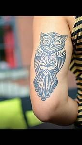 Tatouage Chouette Signification : owl tattoo like placement ink and metal pinterest ~ Melissatoandfro.com Idées de Décoration