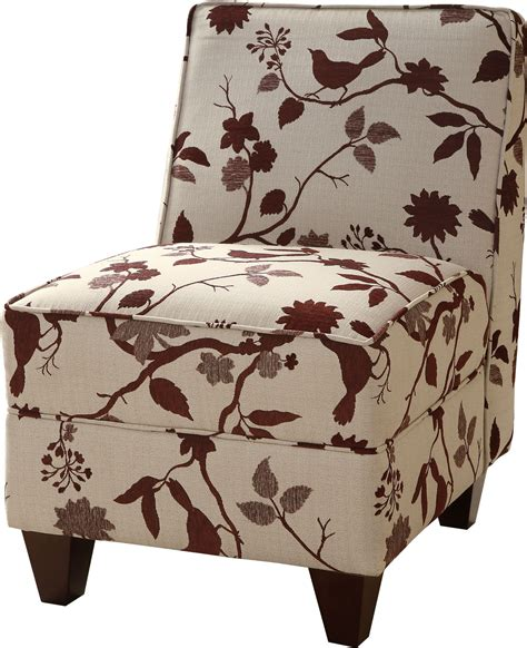 Burgundy Accent Chair by Burgundy Birds Pattern Accent Chair 460408 Coaster Furniture