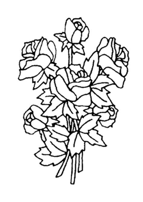 ausmalbilder blumenstrauss mit rosen  kostenlos ausdrucken