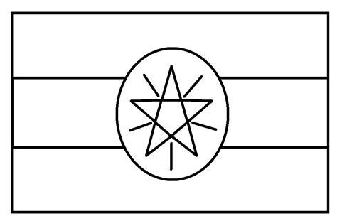 gambar mewarnai gambar sketsa bendera negara indonesia