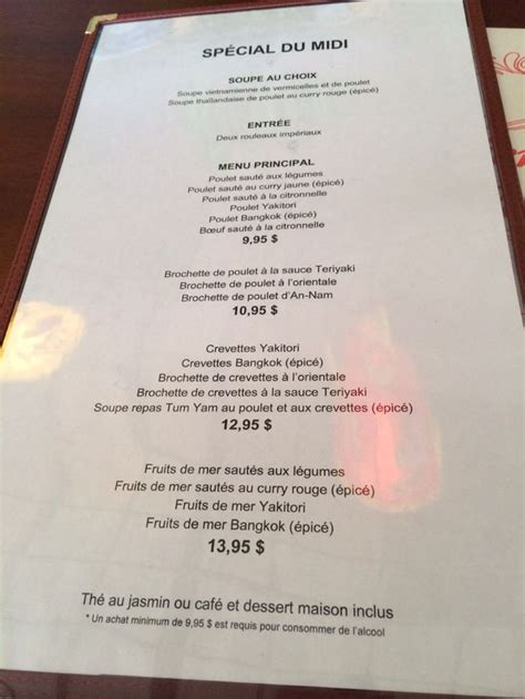 Restaurant Table Menu by Table D Hote Menu Great Value And Portion Size For