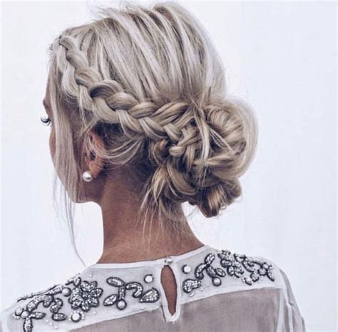The Perfect Braided Updo Teased Messy Side Braid Fading