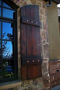 wood exterior shutters 17 best images about Exterior Wood Shutters on Pinterest ...