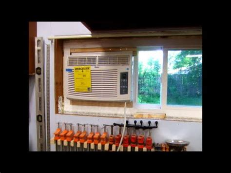 install window air conditioning ac  horzontal slider youtube