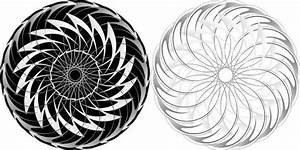 Abstract pattern circles design in black and white Free ...