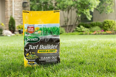 Scotts Turf Builder Weed And Feed Fertilizer 5m Crab Grass
