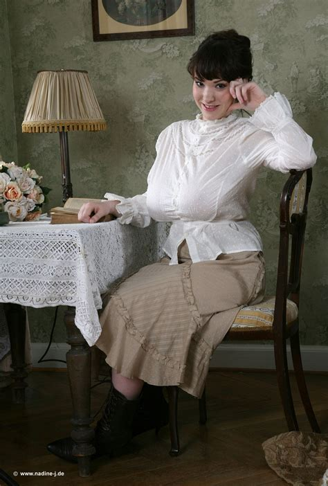 Gorgeous Shapely Dark Haired Russian Model Tanya Song Pretty And Cute In Modest Victorian