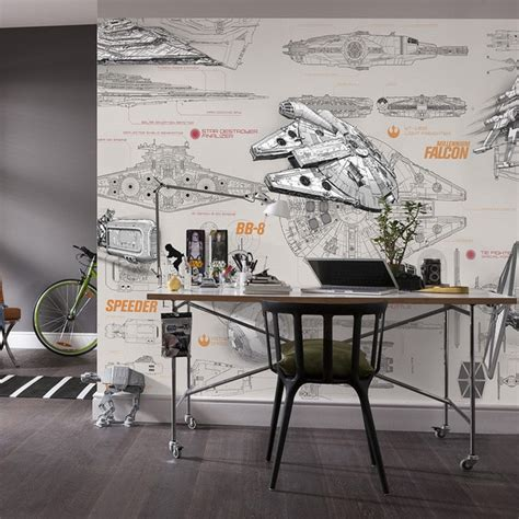 star wars wallpaper wall mural custom spaceship design