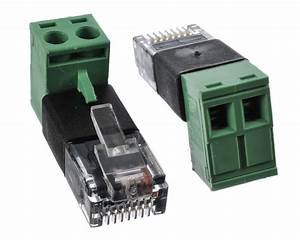 Rj45 Modular Plug To Screw Terminal Wire Adapter For Poe