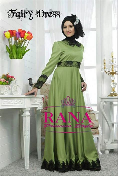 fairy dress  rana hijau baju muslim gamis modern