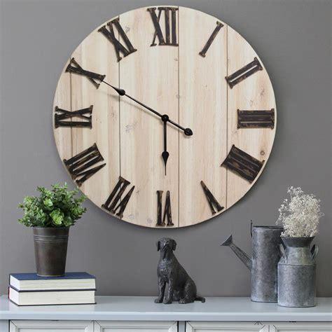 home decor wall clocks stratton home decor distressed white wood wall clock