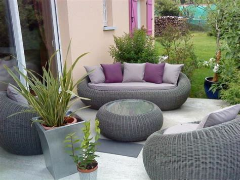 salon de jardin photo 1 8 mon nouveau salon en rotin synth 233 tique