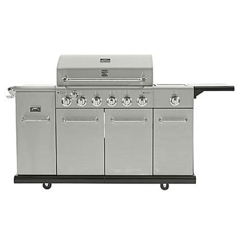 kenmore 6 burner stainless steel front gas grill with