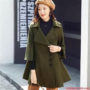 Manteau laine femme vert Les vestes à la mode sont populaires partout dans le monde