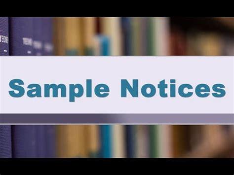 sample notices  higher classes cbse class