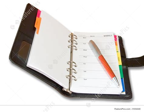 Office And Closeup Open Notebook And A Pen  Stock Photograph I1054449 At Featurepics