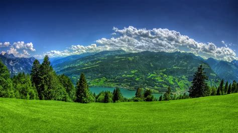 Background Nature Desktop Wallpaper Hd by Mountain Wallpaper Lush Green Grass Mountain Hd