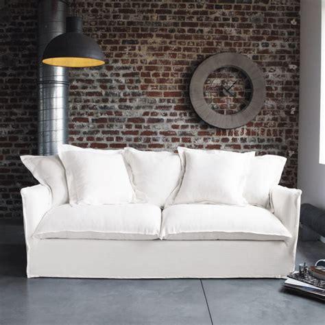 canapé blanc tissu canapé blanc en tissu maisons du monde photo 1 8