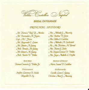 wedding entourage list invitation sample With wedding invitations entourage sample