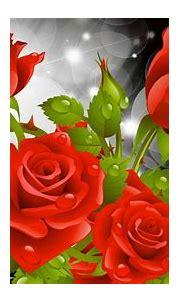 Red Rose Wallpaper 3d - Roses Background Wallpaper Hd ...