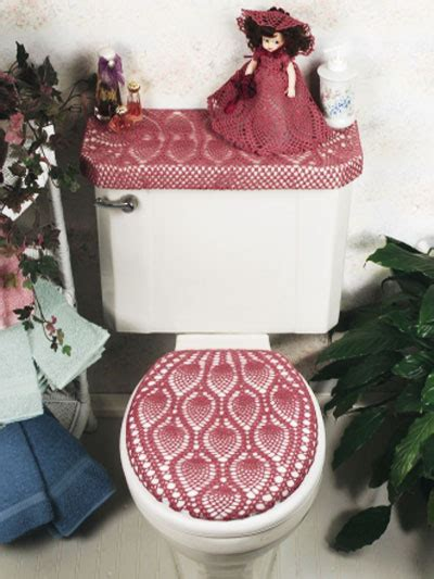 vintage bathroom sets  crochet  patterns