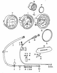 Porsche 356 Tachometer Cable 64474131101  1