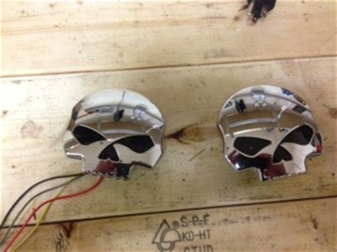 harley chrome skull led gas caps harley davidson forums