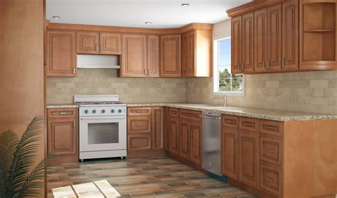 buy ready made kitchen cabinets buy country maple ready to assemble kitchen 8014