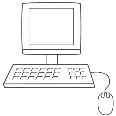 computer coloring book clipart