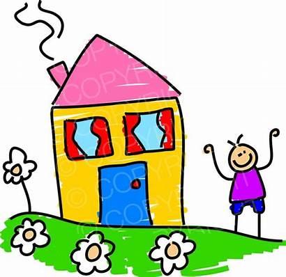 Outside Clipart Cartoon Boy Standing Happy Garden