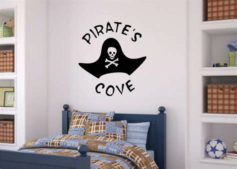 pirates cove vinyl decal wall stickers words letters boy teen room decor ebay