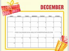 freeprintableDecember2018calendarChristmas Home
