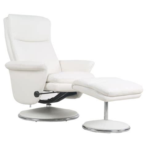 pub au bureau fauteuil relax simili cuir avec pouf assorti pour s