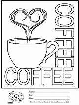 Coloring Pages Coffee Cups Cup Printable Sheets Adult Starbucks Sheet Sign Activities Drawing Colouring Cute Cool Signs Menu Ginormasource Books sketch template