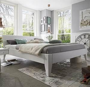 Modernes Bett 180x200 : bett 180x200 beine 2 komforth he kopfteil 2 kiefer wei lackiert ~ Watch28wear.com Haus und Dekorationen