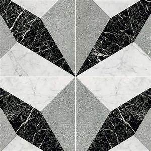 Illusion black white marble floor tile texture seamless 14823