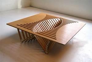Intriguing, Creative, Design, U2013, A, Flexible, Wooden, Table