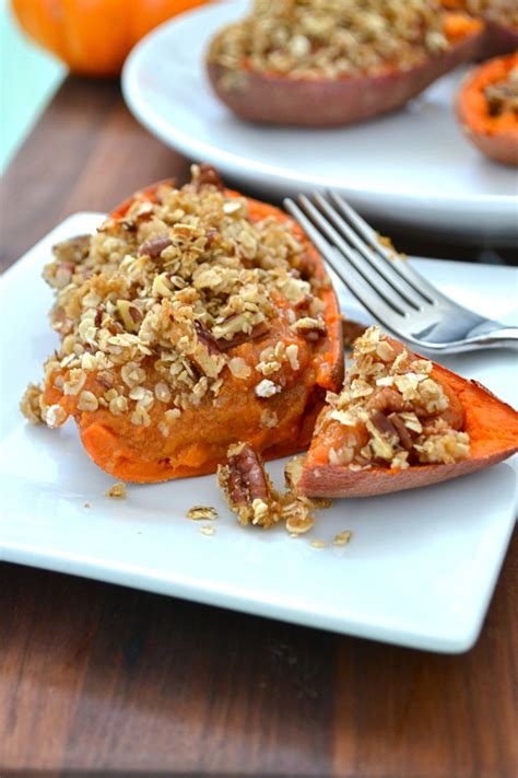 bake yams twice baked yams with oat streusel topping little bits of